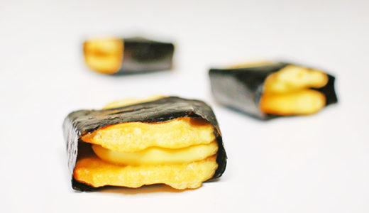 【銀座あけぼの】海苔チーズサンド|和洋折衷の贅沢なチーズあられ