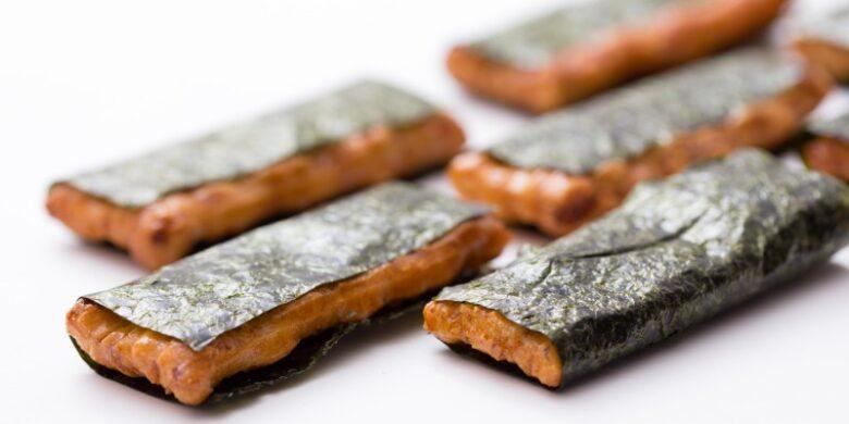 ビタミンB12と葉酸が多い海苔を使ったおかき