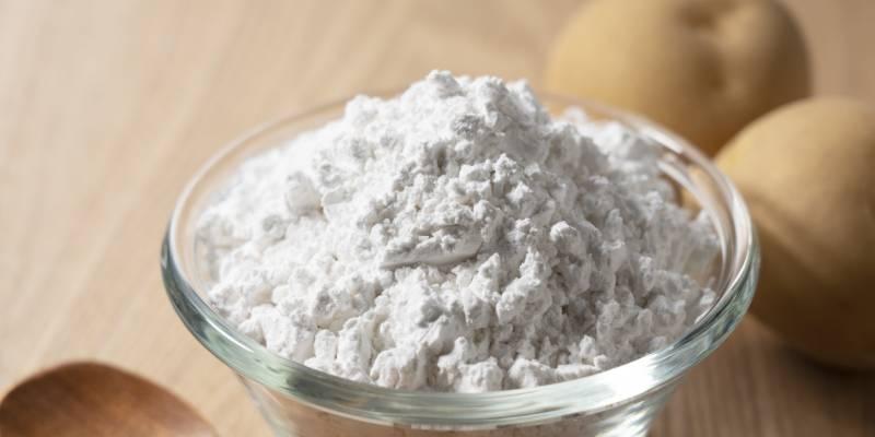 えびせんべいの原材料(馬鈴薯澱粉)