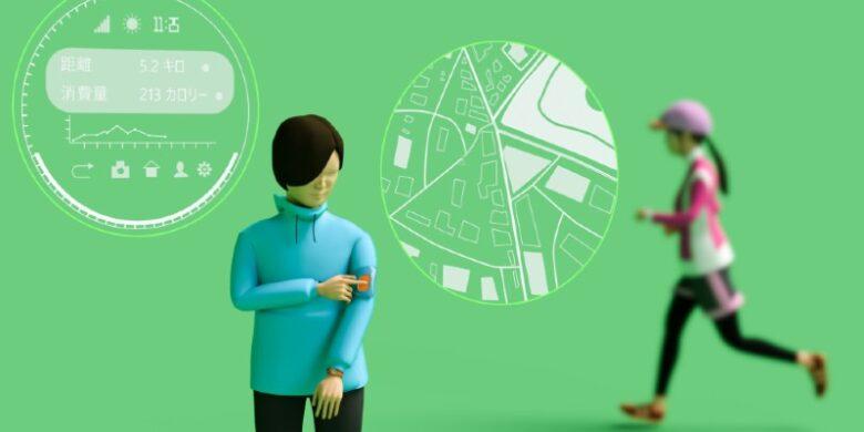 スマートウォッチとウォーキングのイメージ画像