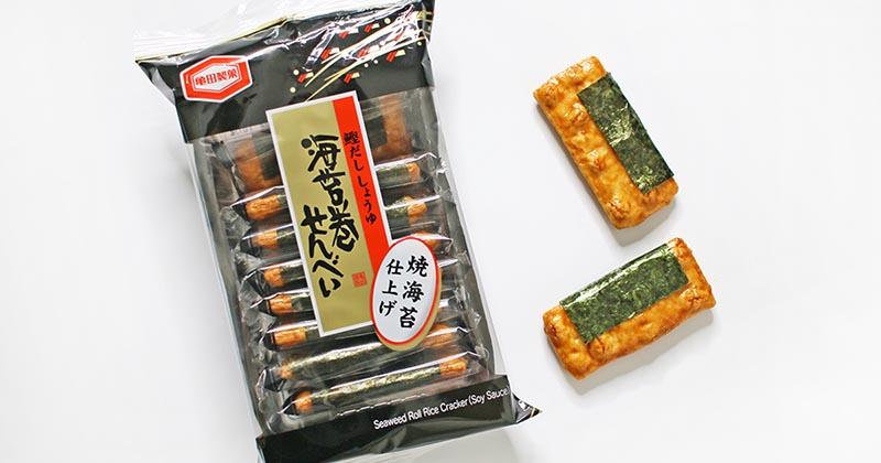 亀田製菓の海苔巻せんべい(撮影写真)