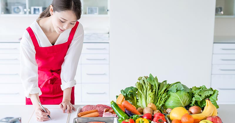 栄養バランスを計算する様子(イメージ画像)