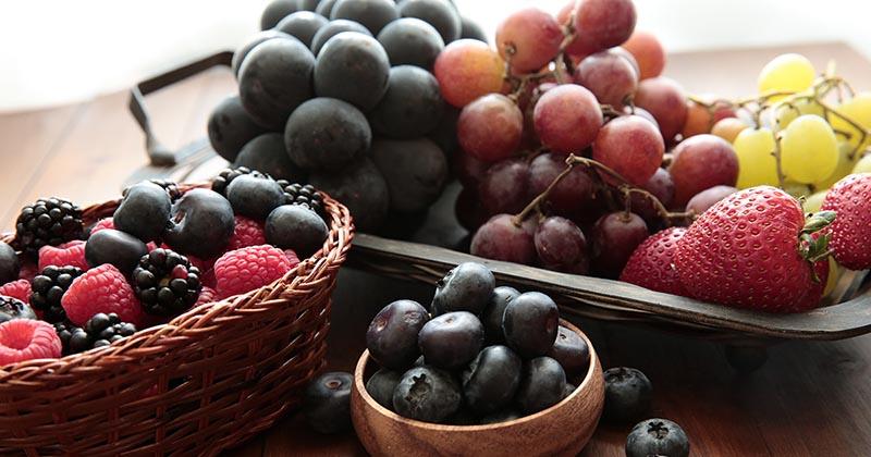 ポリフェノールを含む代表的な果物:ブルーベリーなど(イメージ画像)